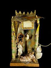 FRANZ BERGMAN VIENNA BRONZE ORIENTALIST HAREM LAMP W/ RARE PARROT - CIRCA 1900