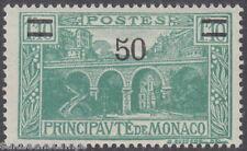Monaco - 1931 50 sur 1f.10 bleu-vert-um/neuf sans charnière