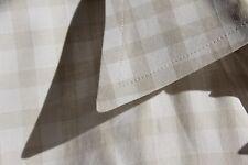 Dunhill XL (16/36) Gentleman's White & Beige Gingham Check Cotton Dress Shirt