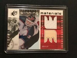 Martin Brodeur 02-03 SPX Winning Materials Jersey and Stick SP /99