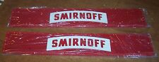 "Lot of 2 SMIRNOFF Vodka Rubber Drip Mat Drink Rail 3.5"" x 21"" Home Bar Mancave"