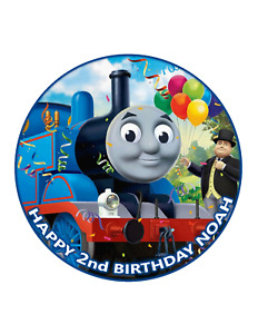 Thomas The Tank Engine Edible Cake Image Personalised Birthday Decoration Topper