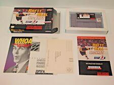 BRETT HULL Hockey (Super Nintendo) COMPLETE!! Stars STL BLUES Red Wings SNES