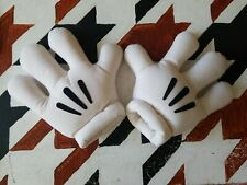 Vintage Walt Disney World Mickey Mouse White Plush Costume Gloves Hands Cosplay