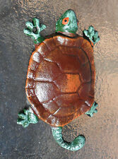 Turtle Tortoise Cast Iron Hook misc Rack Holder - bright colors