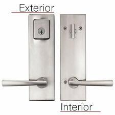 Baldwin Prestige Spyglass Satin Nickel Front Entrance Door Handleset Lock