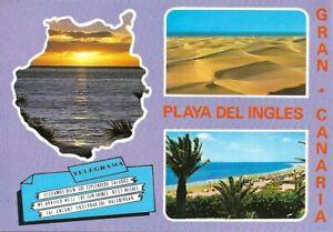 PLAYA DEL INGLES - SOUVENIR DE GRAN CANARIA - POSTCARD