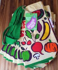 10 Trader Joe's Bags Heavy Duty Cotton Canvas Fresh Produce Bag Lot Joes