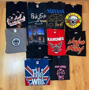 Lot of 11 vintage band tshirts Judas Priest Nirvana Metallica Pink Floyd 90s 00s