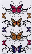 Tatouage Temporaire Papillons 10 Stickers body art