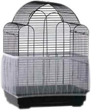 Bird Cage Seed Catcher Seeds Guard Parrot Nylon Mesh Net Cover Stretchy Shell