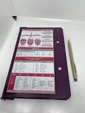 WhiteCoat Clipboard Nursing Edition Folding Aluminum Student Nurse Plum/purple