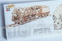 UGears NEW MODEL mechanical wooden 3D puzzle - LOCOMOTIVE