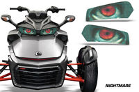 Headlight Eye Graphics Kit Decal Cover For Can-Am Spyder F3 Roadster NIGHTMARE
