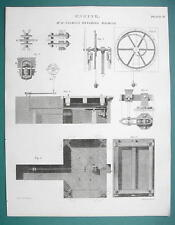 WEIGHING MACHINE Invented by Mr. Salmon - 1820 ABRAHAM REES Print