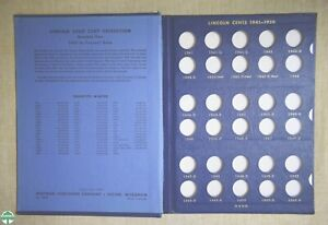 USED 1941-1961 LINCOLN CENTS WHITMAN ALBUM #9406 - NO COINS