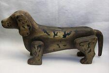 "Vintage Dachshund Dog Figurine Large Display or Door Stop Cast Resin 16"""