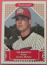 TIM WAKEFIELD, 1991 PROCARDS #308, CAROLINA MUDCATS, RED SOX,   $2 MAX SHIP