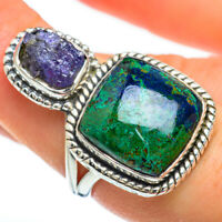 Chrysocolla, Tanzanite 925 Sterling Silver Ring Size 7.5 Ana Co Jewelry R45220F