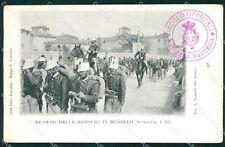 Firenze Mugello Manovre Militari 1902 cartolina KF2712