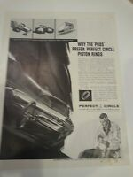 1961 Perfect Circle Piston Rings Why Pros Prefer Race Race Car Print Ad