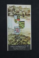 alte Karte Straßenkarte Nr. 17 Shell Franken Oberpfalz old vintage Sammler