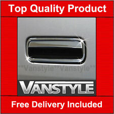 VW T5 TRANSPORTER 2010-15 CHROME TAILGATE REAR DOOR HANDLE COVER STAINLESS STEEL
