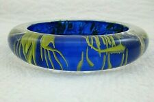 Betsey Johnson Blue And Yellow Plastic Bangle Bracelet