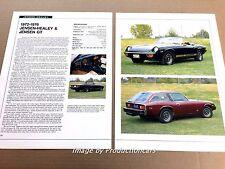 Jensen Healey and GT Original Car Review Print Article J670 1972 1973 1974 1975