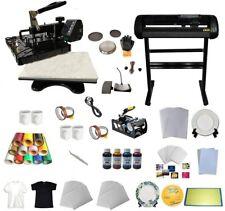 5 In1 Multi Function Heat Press Transfer Machine Vinyl Cutter Plotter Business