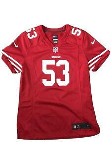 San Francisco 49ers NaVorro Bowman #53 Nike  Solid Jersey  Red Women's M