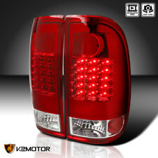 2008-2016 Ford F250 F350 F450 F550 SuperDuty Red Lens LED Tail Lights Lamps