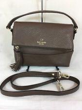 Kate Spade Brown Mini Carmen Southport Avenue Leather Fold Over Bag/Purse