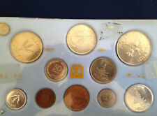 1949 Israel Brilliant Uncirculated 10 Coin Set with 250 500 Silver Prutah P2585