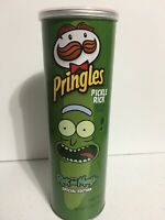 New Special Edition Pringle Rick And Morty Pickle Rick Potato Chips 5.5 Oz