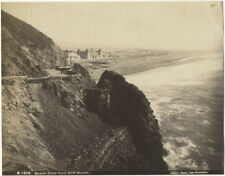 Photo Faber Albuminé San Francisco Beach Drive from Ciff Housse Usa Vers 1880