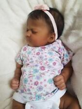Reborn Baby Girl Realborn Ashley Asleep Sculpt Bountiful Baby AA Ethnic Doll