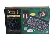 Excalibur 3 In 1 Casino House Craps Roulette Black Jack Game Vegas New In Box