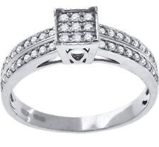 Anillos de joyería con gemas solitario plata de ley diamante