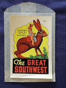 VTG LINDGREN BROTHERS Cartoon Jackrabbit Southwest travel window auto decal