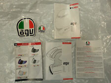 AGV K3SV EUROPEAN SAFETY INSTRUCTION MANUALS WITH STICKERS FACTORY STANDARD NEW
