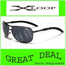Men's Aviator X Loop Sunglasses XL13502 UV400 Davis E5 gray womens sunnies