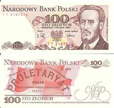 100 ZLOTYCH - BANKNOTE FROM POLAND  - MINT UNC CONDITION - POLISH ZLOTY