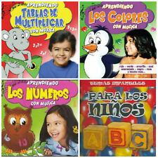 4 Children's SPANISH LANGUAGE CDs LOT kids learning/educational/music/songs NEW!