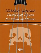 Nicholas Meredith Five Easy Pieces Learn Play Beginner Piano Violin Music Book