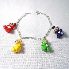 teletubbies bracelet 90s tv emo retro cute handmade kids
