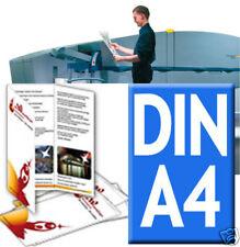 500 x Werbung / Flyer A4  4/4 fbg.auf DIN Lang gefaltet