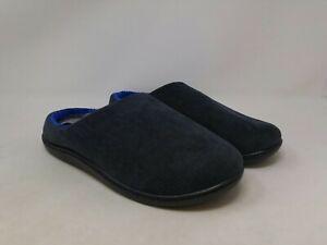 Men's Gray/Blue Slippers Size 13-14 US