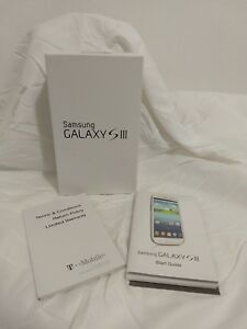 Samsung GALAXY GS3 III White 16GB T-MOBILE :::EMPTY Box & Manuals ONLY:::