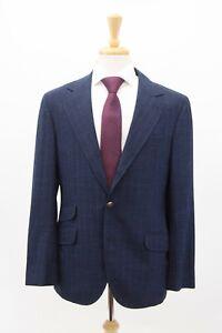 NWT Brunello Cucinelli Mens VWool-Silk-Linen Pinstripe 2Pc Suit Size50/40US A211